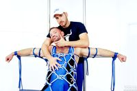 man muscle hunk hairy muscle hunk colt man aaron cage gets naked tied bound jocks pic page
