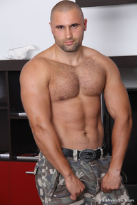 man muscle hunk muscle hunk miguel funt jerks off