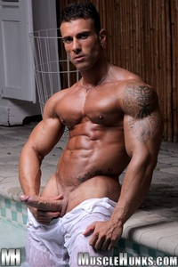 man muscle hunk gianluigi volti strips naked strokes his hard cock ripped muscle bodybuilder torrent photo entry