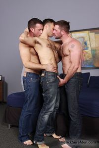 men fucking men pictures heath jordan conner habib morgan black cocksure men threesome threeway fucking sucking hairy hunk muscular kissing passionate rimming flip fuck spitroast team yes