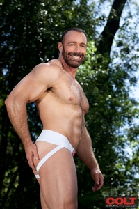 men hairy dicks hairy muscle man brad kalvo lowers his suit revealing hard tight butt colt studios ripped bodybuilder strips naked strokes cock torrent photo
