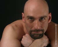 men hairy dicks drew sebastian goatee hairy dick piercing nipple rings sexy shaved head real men jim wilkinson photography woof alert