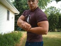 men hunk muscle incredible muscle hunk flexing biceps