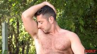 muscle bears gay porn colt minute man solo series brayden forrester hairy muscle bear jerk off amateur gay porn stud jerks his cock
