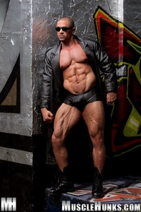 muscle huks eddie camacho muscle hunks ripped bodybuilder strips naked strokes his hard cock photo