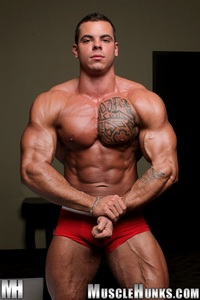 muscle huks norman cox muscle hunks ripped bodybuilder strips naked strokes his hard cock photo