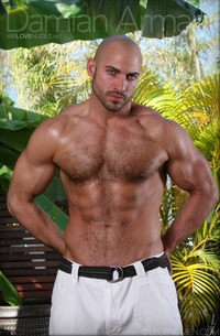 muscle hunk gay pic legend men huge hairy chested muscle bodybuilder damian armani body dick shaved headed hunk male tube red gallery photo