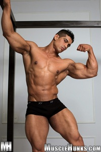 muscle hunks pepe mendoza huge hung bodybuilder ripped muscle hunk strips naked strokes his hard cock hunks photo latin garden play