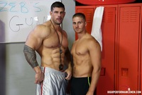 muscle men big dick hung bodybuilder zeb atlas gets his hard cock sucked off fucks muscle fan logan vaughn worshiping from high performance men pic
