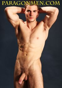 muscle men hunk muscular hunk fitness model nick wolloski jacks off his cock paragon men pic