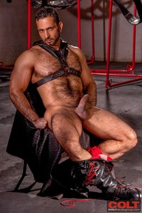 muscle studs gay sex leather muscle hunk adam champ takes stud jake genesis armour from colt studio group pic