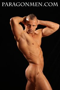 Naked Brazilian Men smooth hung hard muscle hunk dave romero gets naked jacks off his cock paragon men pic