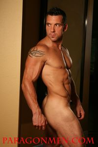 naked hunk men tattooed muscle hunk strength gets wet naked shows off paragon men mid aka tommy tucker