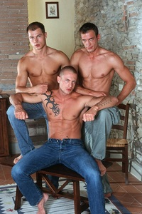 naked Italian men italian stallion max czech superstar vilem hot threesome giorgio lucas kazan ripped muscle bodybuilder strips naked strokes his hard cock photo