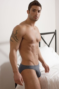 naked male hunks adam ayash ready bed