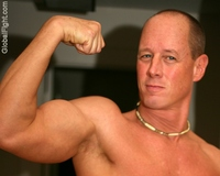 naked men with muscles balding crewcut military muscles man