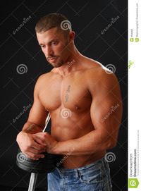 naked muscle mans muscular man stock photos