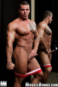 naked muscular hunks norman cox muscle hunks ripped bodybuilder strips naked strokes his hard cock photo