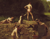 nude dudes wikipedia commons detail swimming thomas eakins