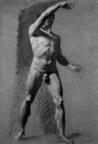 nude male photos artwork male nude pointing large pages