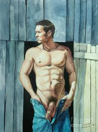 nude male photos medium large private nude male standing front barn door christopher shellhammer category