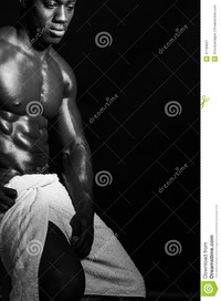 nude muscular males muscular male model wrapped towel nude young man covering himself royalty free stock photography