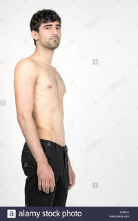 pics of naked male models comp torso naked male model wearing black pants against grey background stock photo