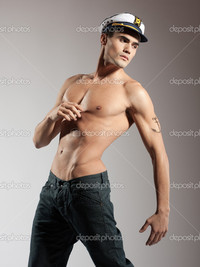 pics of naked male models depositphotos very attractive young male model naked sailor cap great body studio shoot stock photo