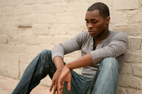 pictures of gay black men depressed african american