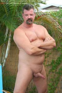 porn gay daddies hot older male mitch davis beefy chubby smooth daddy jerking his thick cock amateur gay porn