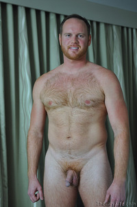 red Picture porn gay brian comer guy gay porn cub bear hairy beefy redhead red ginger beard jerking off dick cock stroking masturbation solo average next door strokes his manhood