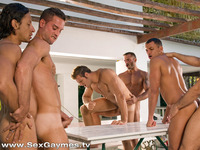 sex man and gay muscle hunks angelo marconi austin wilde pedro andreas more suck cock fuck six man gay orgy gaymes pic