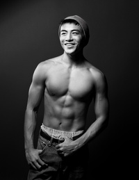 sexy black guys shirtless asian guy black white attachment