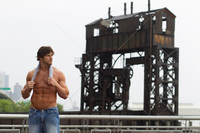 sexy bodybuilder man get oaxzwpzo fit sexy shirtless man standing near remains train depot york city