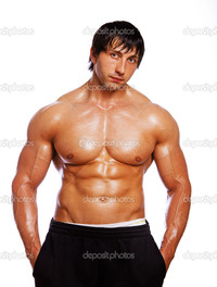 sexy bodybuilder man depositphotos portrait sexy man posing stock photo