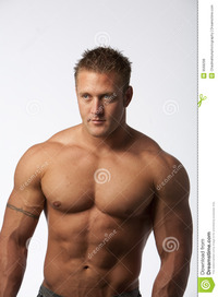 sexy bodybuilder man muscle man white royalty free stock photos