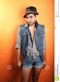 sexy gay man pic sexy gay man jeans hat royalty free stock