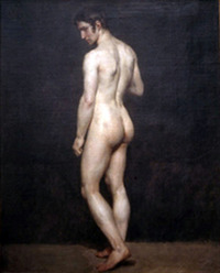 sexy male nudist hippolyte flandrin standing male nude