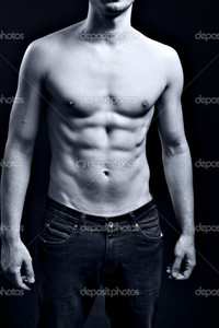 sexy muscular black men depositphotos man sexy muscular ripped abs stock photo