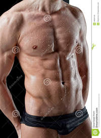 sexy muscular black men sexy wet muscle man body royalty free stock photos