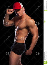 sexy muscular black men sexy muscular man baseball cap stock photo