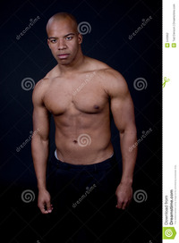 sexy muscular black men young black man stock photography