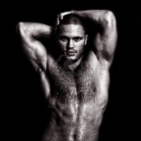 sexy nude guy dmitrimaruta nude muscular guy posing hands behind head black white photo