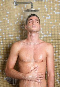 sexy pics man depositphotos young handsome sexy nude man shower stock photo
