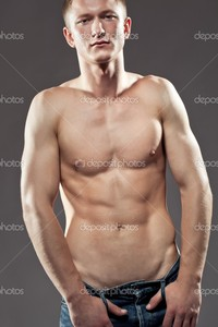 sexy pics man depositphotos sexy man posing shirtless stock photo