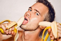 straight men for gay sex man eats banana nothing else pervert truth about gay men penis size