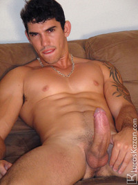 straight men jack off young hung muscle stud diego strips naked jacks off his hard cock lucas kazan pic