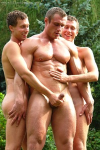 uncut gay guys gay twins share rudolf scheider his uncut muscle cock richter