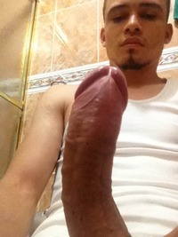 uncut Latin guys uncut latino dick from below