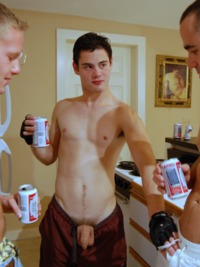 uncut young men bccoastsurfer drunk frat guy flops his uncut